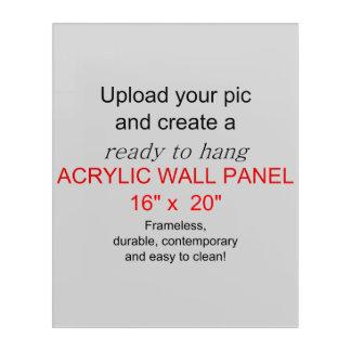 Acrylic Wall Art 16 x 20 - Add pics and text!