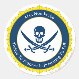 Action Not Words - Latin- Acta Non Verba Round Sticker