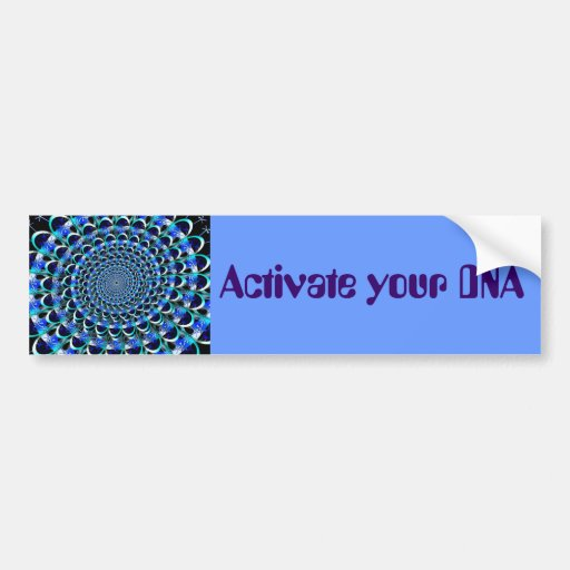 Activate your DNA bumper sticker