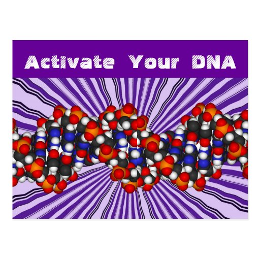 Activate  your  DNA  postcard