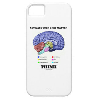 Activate Your Grey Matter Think (Anatomical Brain) Barely There iPhone 5 Case