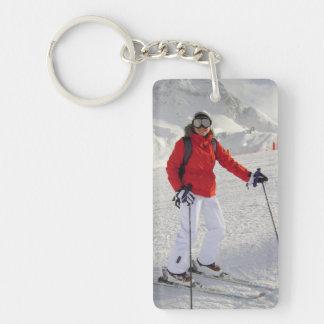 Active Cold Image Rectangular Acrylic Keychains