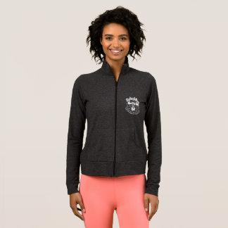 Active cotton/spandex jacket w/logo