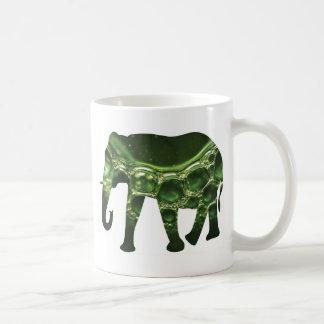Active Elements Fresh and inspiring Elephant Art – Basic White Mug