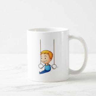 Active kid basic white mug