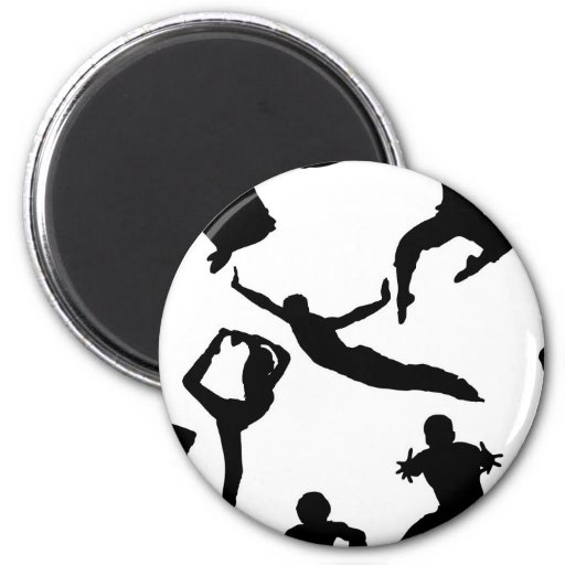 Active people refrigerator magnets