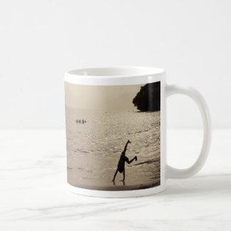active silhouette classic white coffee mug