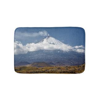 Active stratovolcano bath mats