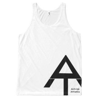 Activize Athletics Tank Top Large Logo All-Over Print Tank Top