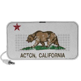 Acton California Republic Flag Mini Speakers