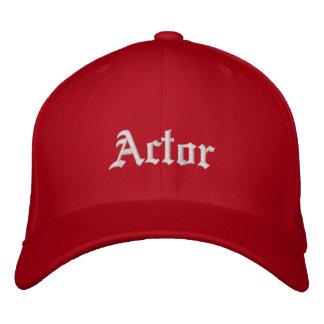 Actor Embroidered Hat