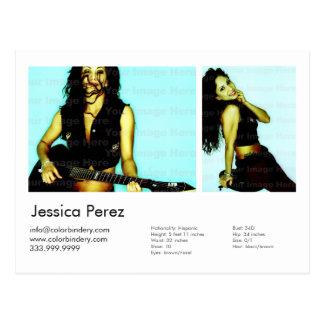 Actor/Model 2 Shot Headshot Card Postcard