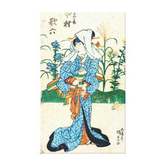 Actor Nakamura Karoku 1825 Canvas Print
