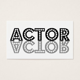 Actor Shadow Business Card