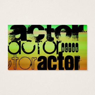 Actor; Vibrant Green, Orange, & Yellow Business Card