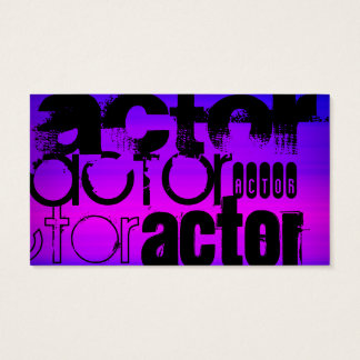 Actor; Vibrant Violet Blue and Magenta Business Card