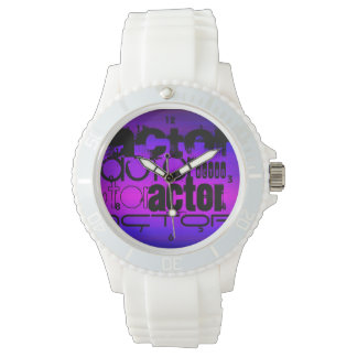 Actor; Vibrant Violet Blue and Magenta Watch