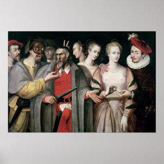 Actors of the Commedia dell'Arte Poster
