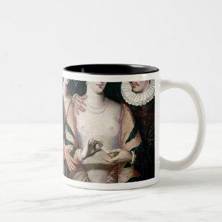 Actors of the Commedia dell'Arte Two-Tone Coffee Mug