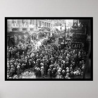 Actors Striking in New York City 1919 Poster
