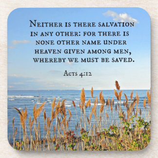 Acts 4:12 Neither is there salvation in any other. Drink Coaster