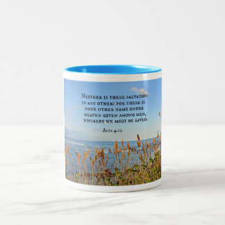 Acts 4:12 Neither is there salvation in any other. Coffee Mugs