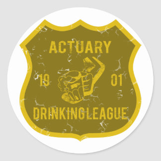 Actuary Drinking League Classic Round Sticker