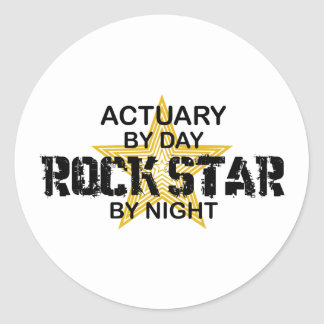 Actuary Rock Star by Night Classic Round Sticker