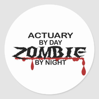 Actuary Zombie Classic Round Sticker