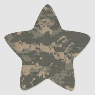 ACU Digital Camo Camouflage Star Sticker