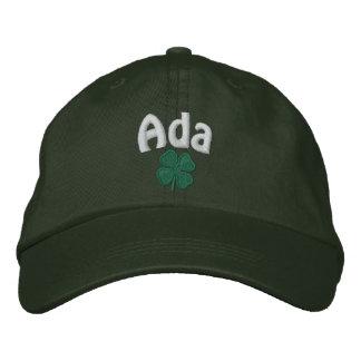 Ada  - Four Leaf Clover Embroidered Hat