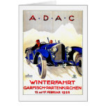 ADAC German Auto Race ~ Vintage Automobile Ad Greeting Card