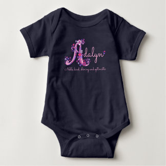 Adalyn girls name & meaning letter A baby apparel Baby Bodysuit