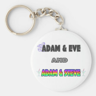 Adam & Eve & Adam & Steve Key Ring