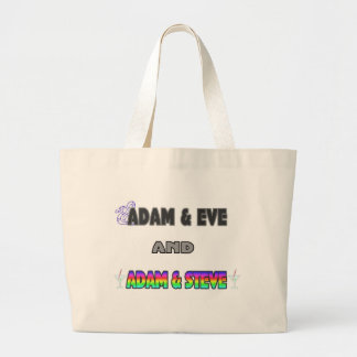 Adam & Eve & Adam & Steve Large Tote Bag