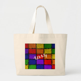 ADAM (male names) Large Tote Bag