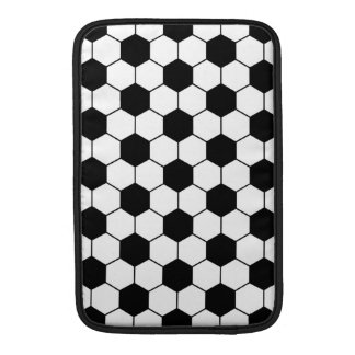 Adapted Soccer Ball pattern Black White Sleeve For MacBook Air