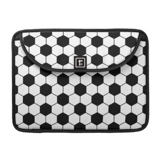 Adapted Soccer Ball pattern Black White Sleeve For MacBook Pro