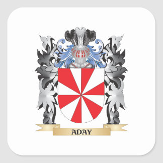 Aday Coat of Arms - Family Crest Square Sticker