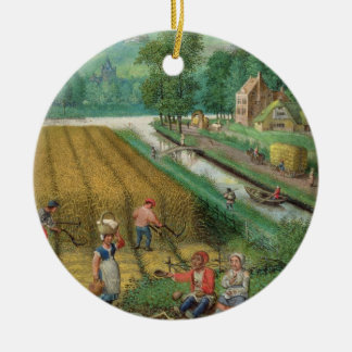 Add 18855 September: harvesting, ploughing and sow Christmas Ornament