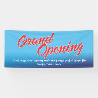 add a message grand opening Banner