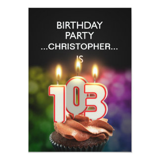 Add a name, 103rd Birthday party Invitation