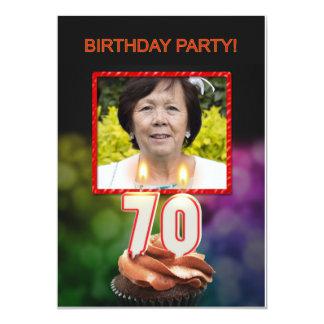 Add a picture, 70th Birthday party Invitation