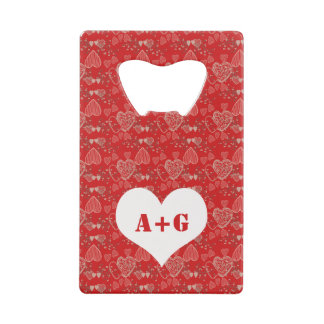 Add his and hers initials Valentine's Day hearts