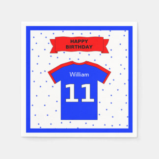 Add name 11th birthday party girls and boys disposable serviette