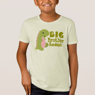 Add Name Big Brother Dinosaur Print T-Shirt