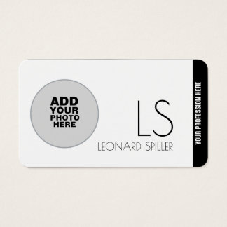add photography , a modern & professional business card
