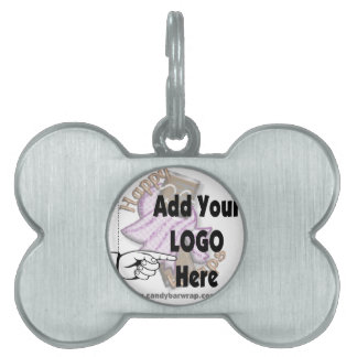 Add Your Company LOGO as Client or Employee Gifts Pet Name Tags