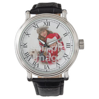 Add Your Family Portrait Fun Custom Classic Watch