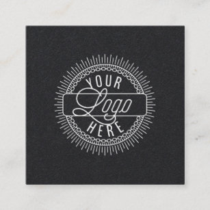 Business cards business card printing zazzle nz add your logo modern black and white square business card reheart Gallery